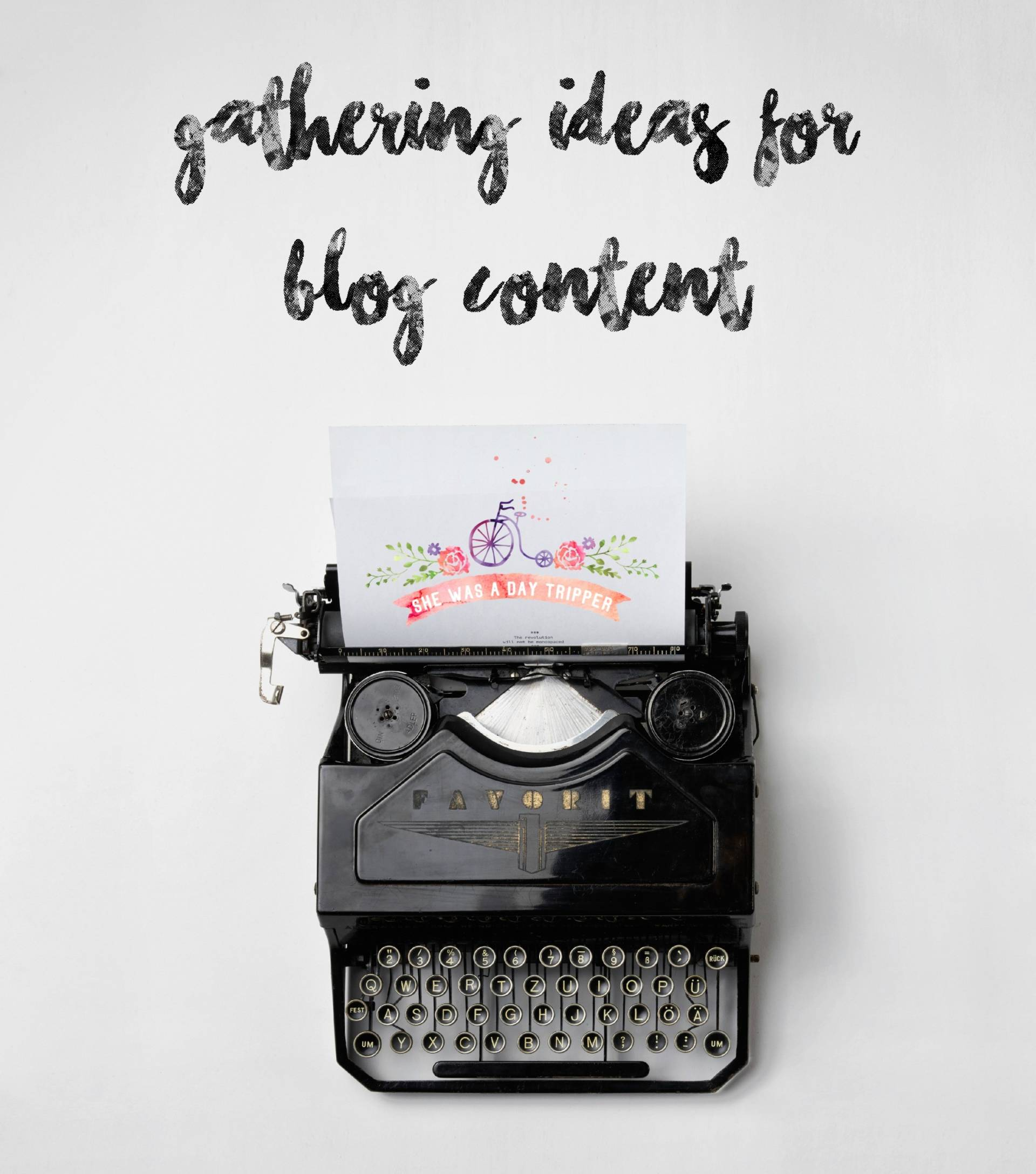 New blog content ideas